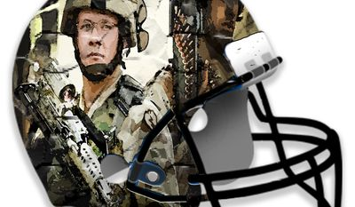 Illustration Army-Navy Football by John Camejo for The Washington Times