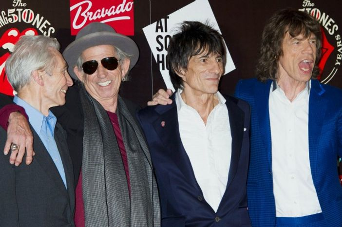 Charlie Watts, Keith Richards, Ronnie Wood and Mick Jagger, from the British rock band, The Rolling Stones. (Associates Press)