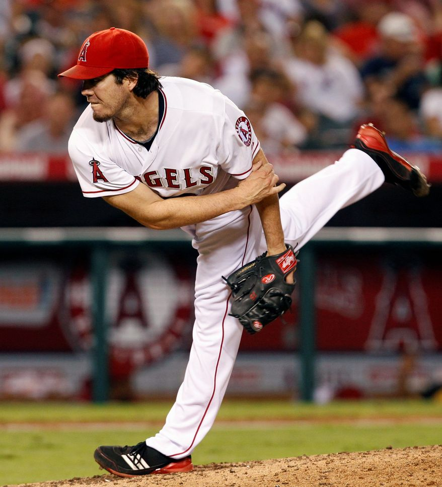 Former Los Angeles Angel Dan Haren saw Washington as a good fit because of the Nationals' potential to compete for championships. (Associated Press)