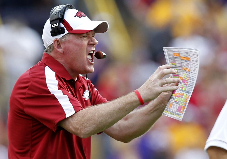 Bobby Petrino has been hired by Western Kentucky as its new football coach. (Associated Press)