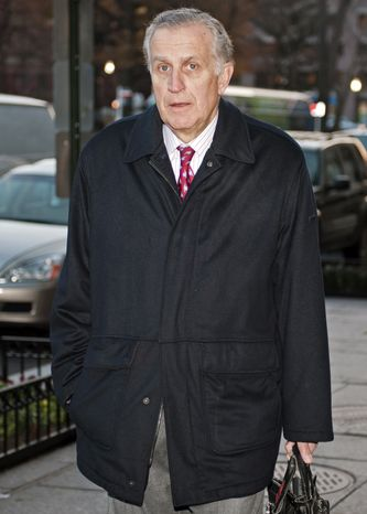 FILE - In this Nov. 30, 2012, file photo, former NFL commissioner Paul Tagliabue arrives at an attorney's office in Washington for a hearing on the bounty system of the New Orleans Saints NFL football team. Tagliabue, who was appointed to handle a second round of player appeals to the league, has informed all parties he planned to r