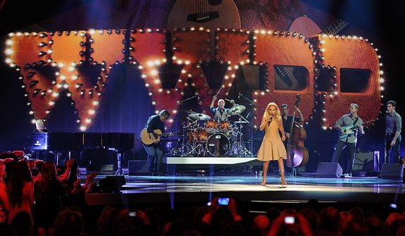 Kristin Chenoweth performs during the American Country Awards on Monday, Dec. 10, 2012, in Las Vegas. (Al Powers/Powers Imagery/Invision/AP)