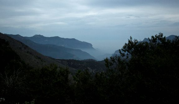 This photo shows the terrain Mountains of the Sierra near the site where a plane carrying U.S-born singer Jenni Rivera crashed near Iturbide, Mexico, on Dec. 9, 2012. (Associated Press)