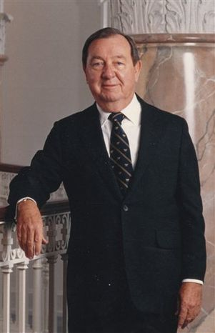 This image released by ABC7/WJLA-TV and News Channel 8, shows Joe Allbritton, founder of Allbrittion Communications. Allbritton, who became one of Washington's most influential men by building media and banking empires, died at the age of 87, on Wednesday, Dec. 12, 2012, at a hospital in Houston, where he