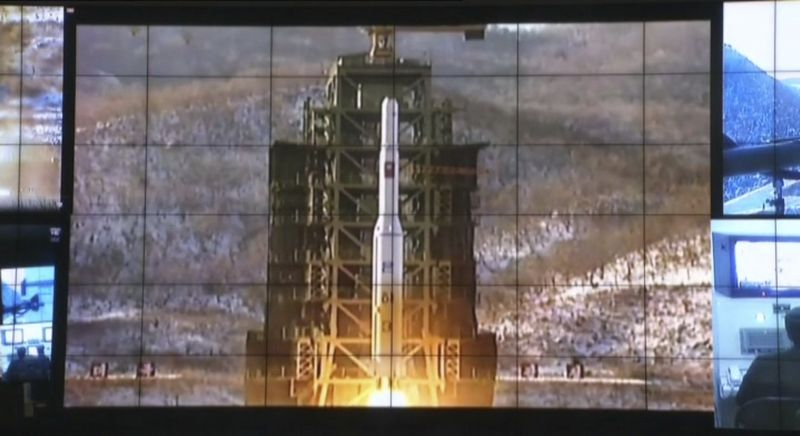 In this image made from video, displays show the Unha-3 rocket launch at North Korea's space agency's General Launch Command Center on the outskirts of Pyongyang, Wednesday, Dec. 12, 2012. (AP Photo via APTN)
