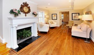 The Georgetown home has gleaming hardwood flooring and high ceilings.