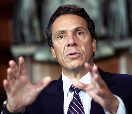 Mr. Cuomo, a Democrat, continues to mull whether to allow fracking in upstate New York, where an economic shot in the arm is desperately needed. (Associated Press)