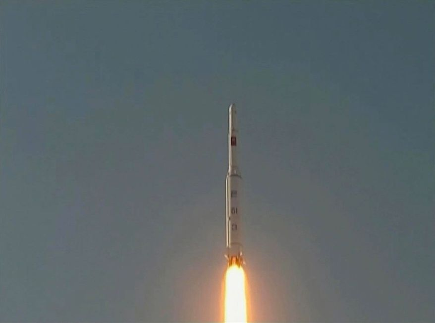 A North Korean Unha-3 rocket lifts off from the Sohae launching station in Tongchang-ri, North Korea, on Wednesday, Dec. 12, 2012. (AP Photo/KRT via AP Video)
