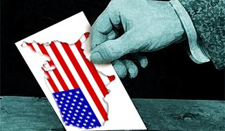 Illustration American Votes by John Camejo for The Washington Times