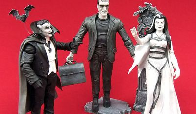 Gift ideas for the collector include Diamond Select Toys' The Munsters Family with Grandpa, Herman and Lily action figures. (Photograph by Joseph Szadkowski)