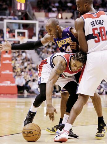Washington hung tough against Kobe Bryant and the Los Angeles Lakers in a 102-96 loss Friday at Verizon Center. The next night, the Wizards suf