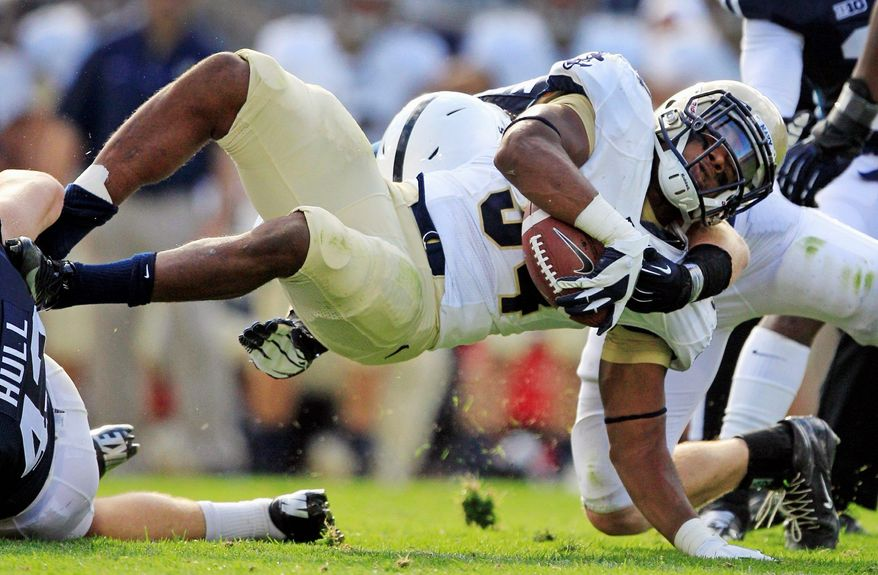 Noah Copeland has scored three of his five touchdowns this season in the past two games. His 152 carries are the most for a Navy sophomore fullback in the triple-option era, which dates to 2002. (Associated Press)