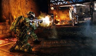 """This undated publicity photo released by Electronic Arts Inc. shows the downloadable """"Zero Dark Thirty"""" map pack for the """"Medal of Honor: Warfighter"""" video game."""
