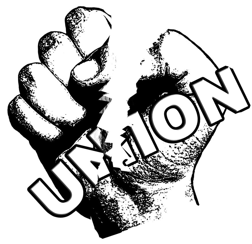 Illustration Defeating Unions by John Camejo for The Washington Times
