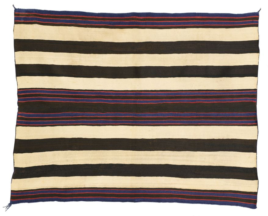 A Navajo man's wearing blanket from the museum-quality collection of the late singer Andy Williams is slated to go to auction next year. (AP Photo/Sotheby's)