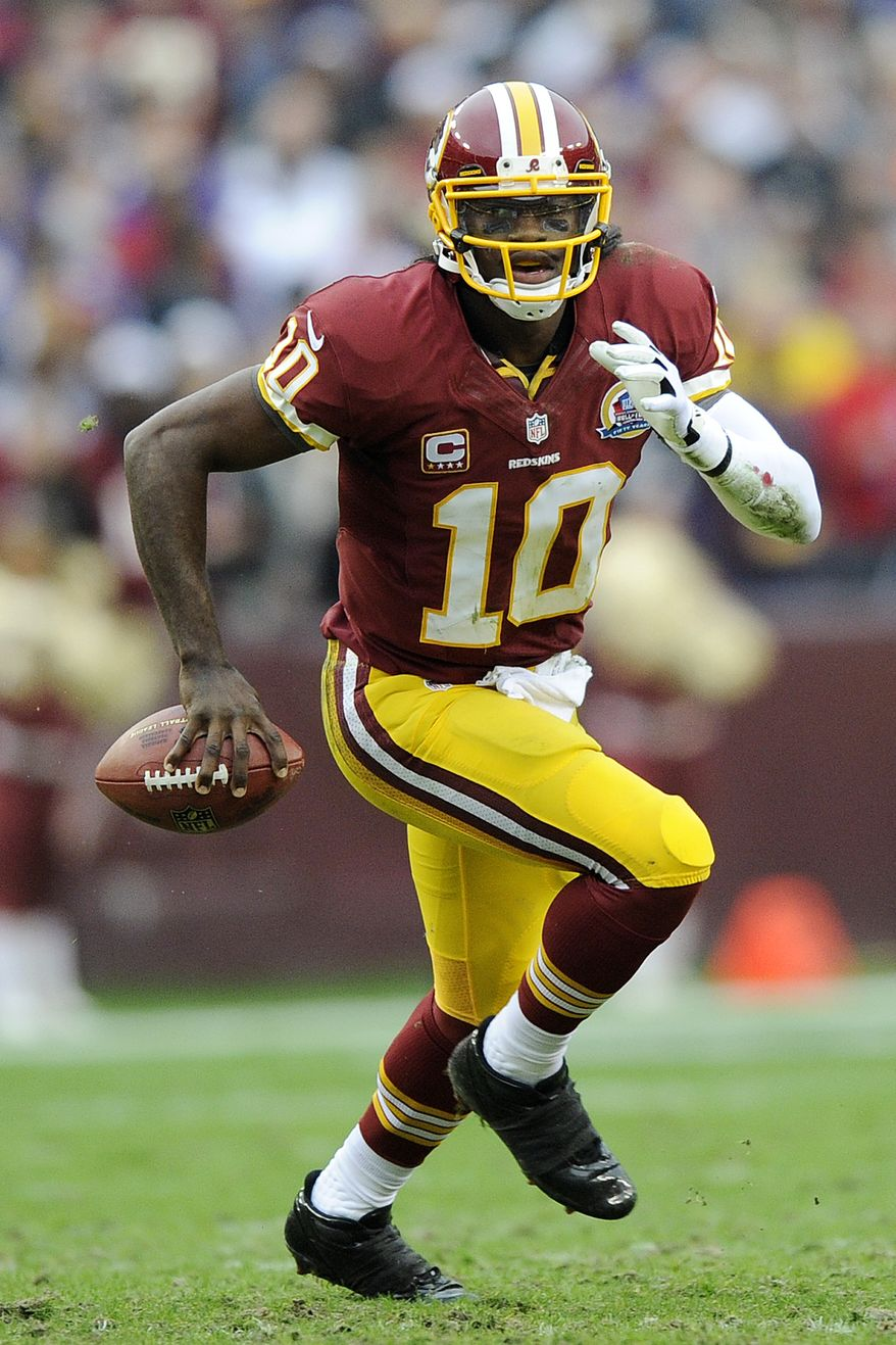 Robert Griffin's jersey sales have set a single-season record since the NFL began tracking such data six years ago, according to an ESPN.com report. (AP Photo/Nick Wass)