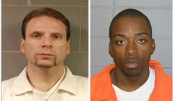 This undated photo provided by the FBI shows Kenneth Conley, left and Jose Banks two inmates who escaped from the Metropolitan Correctional Center in downtown Chicago Tuesday, Dec. 18, 2012. (AP Photo/FBI,HOPD)