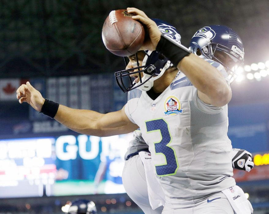 Seattle quarterback Russell Wilson (3). (Associated Press)