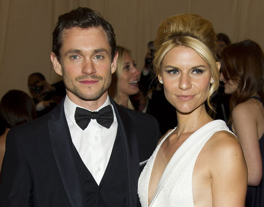 Actors Hugh Dancy and Claire Danes arrive at the Metropolitan Museum of Art Costume Institute's gala benefit in New York on Saturday, May 7, 2012. (AP Photo/Charles Sykes)