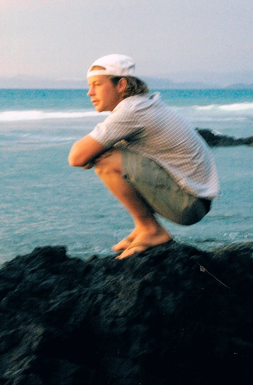 Former Marine Jon Hammar, who served combat tours in Afghanistan and Iraq, was arrested for illegally possessing an antique firearm even though he declared the gun to Mexican Customs agents. He is shown here on a surfing trip to Costa Rica in 2007. He could face up to 15 years in prison if convicted. (Photo courtesy Olivia Hammar)