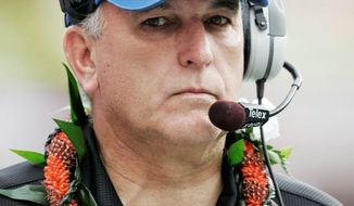 associated press June Jones guided Hawaii to a perfect season in 2007, then left for SMU after what he thought were unfulfilled promises to upgrade athletic facilities.
