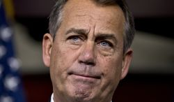 "House Speaker John A. Boehner, Ohio Republican, speaks to reporters about the ""fiscal cliff"" negotiations at the Capitol in Washington on Friday, Dec. 21, 2012. (AP Photo/J. Scott Applewhite)"