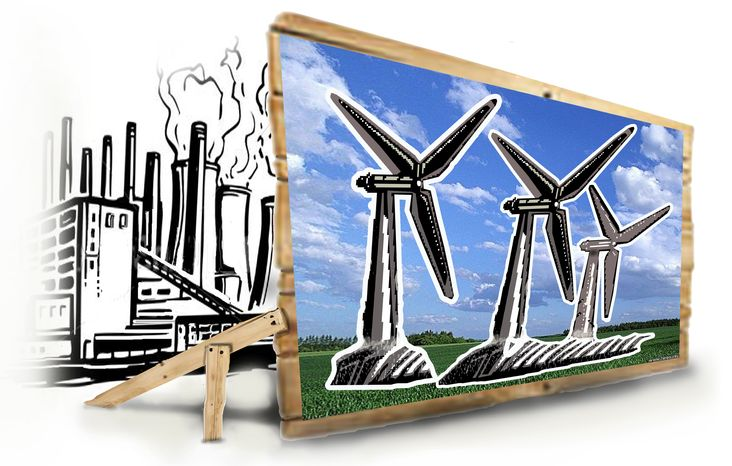 Illustration Wind Tax by John Camejo for The Washington Times