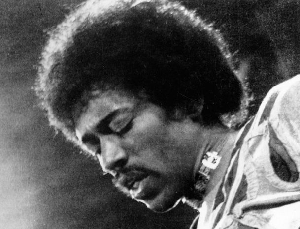 Rock guitar wizard Jimi Hendrix, seen here in 1970, died that year at age 27. Janis Joplin, Jim Morrison and Kurt Cobain also died at 27, but a recent study found the average age of death for North American rock stars was 45.2 years of age. (Associated Press)