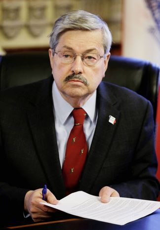 Iowa Gov. Terry Branstad, a Republican, leads one of only three states where legislative control is split between parties. Taxes and education this session will take a back seat to less-important issues so something can pass the legislature. (Associated Press)