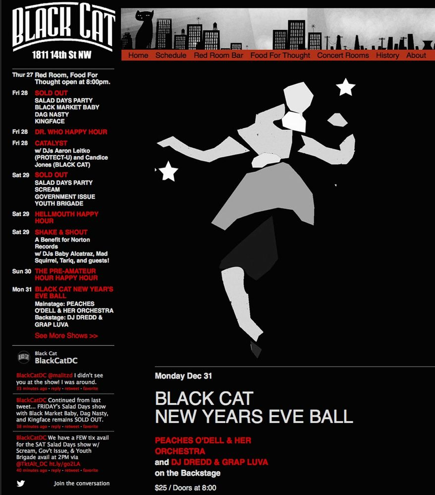 Concert: Black Cat New Year's Eve Ball