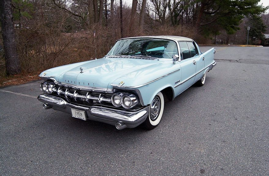 The 1959 automotive year was one of excess and the Imperial was in the forefront in the use of chrome and flamboyant styling, which meant fins. Bart Stringham appreciates his 46-year-old Imperial.