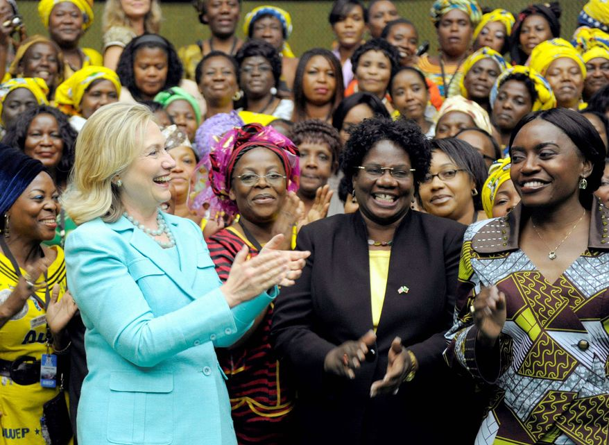 Secretary of State Hillary Rodham Clinton has visited 112 nations and spoken to more foreign populations than any U.S. secretary of state in history. Last year, she bonded with women in Zambia. (Associated Press)