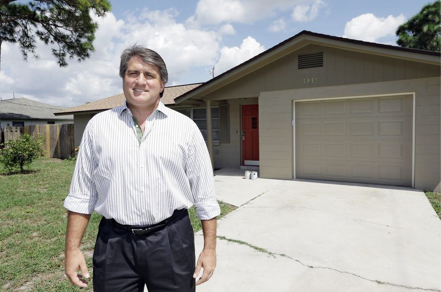 Andrew Neitlich, a former financial analyst who once picked stocks for a mutual fund, is among investors across the country who are selling their stocks. Mr. Neitlich, standing in front of one of his investment homes in Venice, Fla., kept his holdings during the dot.com crash 12 years ago but is unloading them now. An analysis by The Associated Press found that individual investors have pulled at least $380 billion from U.S. stock funds since they started selling in April 2007. (Associated Press)