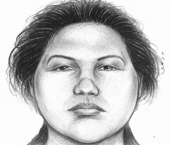 In this image provided by the New York City Police Department, a composite sketch showing the woman believed to have pushed a man to his death in front of a subway train on Thursday, Dec. 27, 2012, is shown. Police arrested Erika Menendez on Saturday, Dec. 29, 2012, after a passer-by on a street not