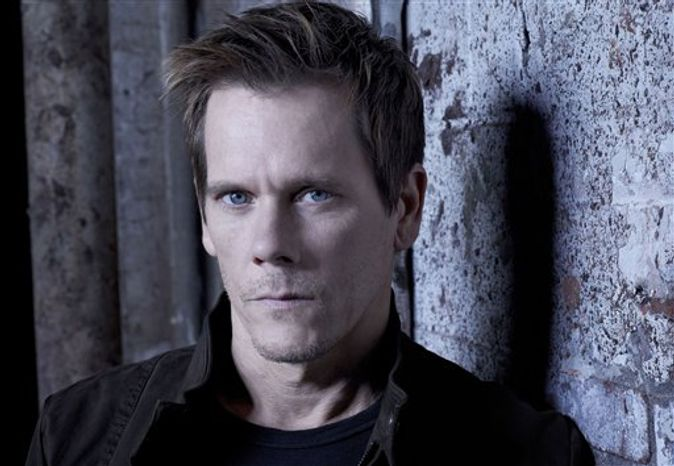 "This undated publicity photo released by Fox shows Kevin Bacon as Ryan Hardy in ""The Following,"" premiering Monday, Jan. 21, 2013, (9:00-10:00 PM ET/PT). (AP Photo/Fox, Michael Lavine)"