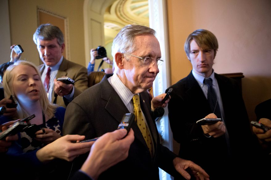 """There's still significant distance between the two sides. We intend to continue negotiations,"" said Senate Majority Leader Harry Reid. (Associated Press)"