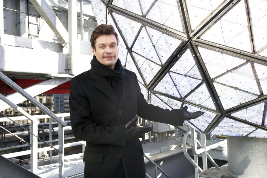 "Ryan Seacrest, producer and host of ""Dick Clark's New Year's Rockin' Eve"" on ABC, gets ready for the big bash on Friday, Dec. 28, 2012, in New York. (Dan Hallman/Invision/AP Images)"