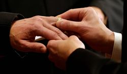 Days after Idaho began performing gay marriages on Oct. 15, Don and Evelyn Knapp declined to marry a same-sex couple. Previously, city officials had said that the Knapps, both of whom are ordained ministers, would be in violation of the law if they refused to officiate a same-sex marriage. (Associated Press)
