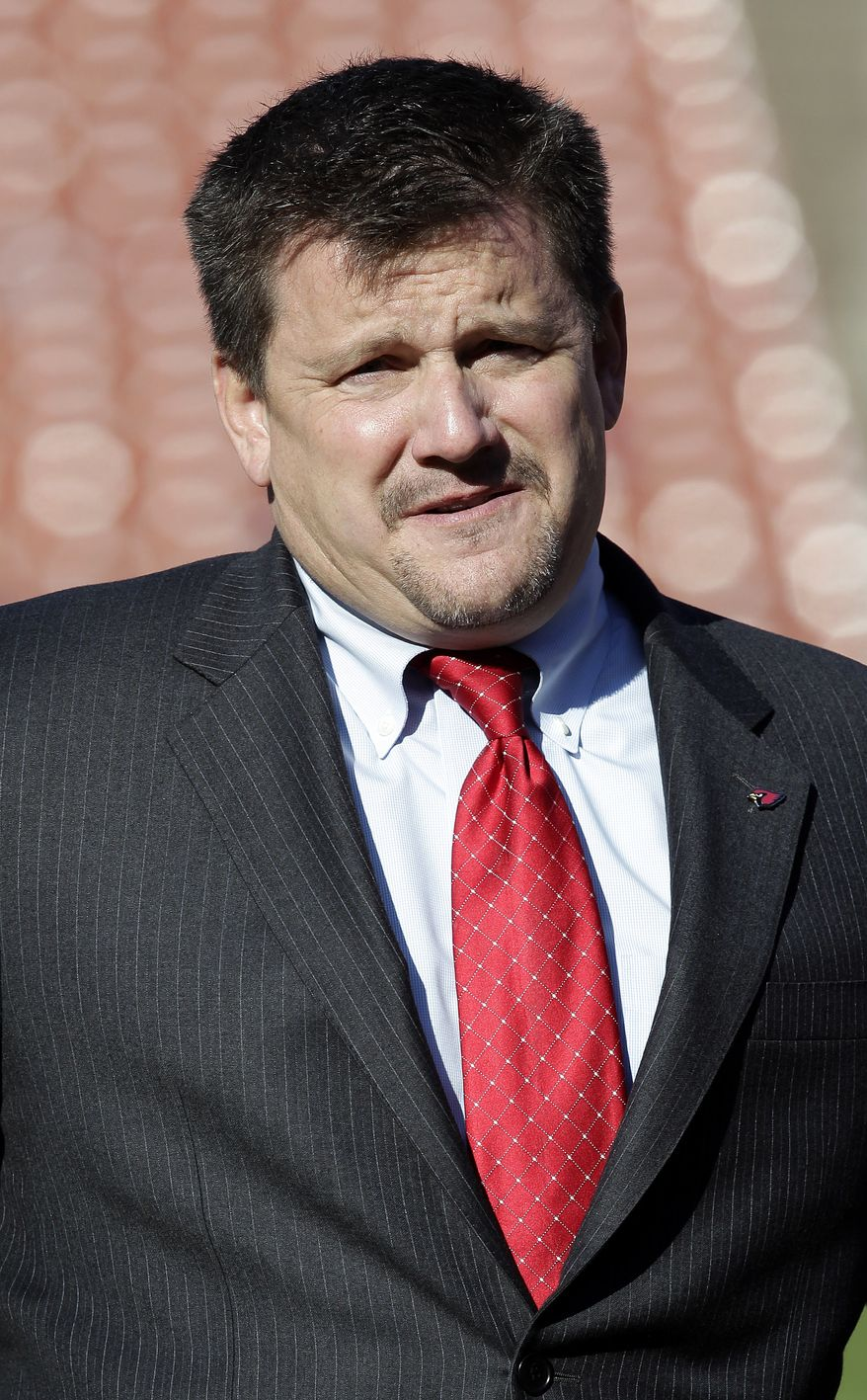Arizona Cardinals team president Michael Bidwill is shown before an NFL football game between the San Francisco 49ers and the Arizona Cardinals in San Francisco, Sunday, Dec. 30, 2012. (AP Photo/Tony Avelar)