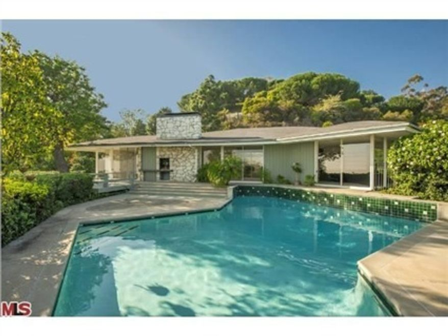 Ronald and Nancy Reagan helped design their 4,764-square-foot, four-bedroom, four-bath ranch house in the tony Pacific Palisades neighborhood in west Los Angeles. The house is for sale for $4,999,000. (Photo courtesy of Coldwell Banker)