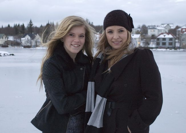 Blaer Bjarkardottir (left), 15, left, pictured with her mother, Bjork Eidsdottir, is bringing legal action against the Icelandic government to allow her to use her name, which is not on the list of 1,853 government-approved female names. (AP Photo/Anna Andersen)