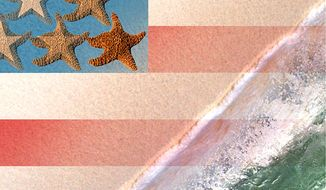 Illustration Seashore by Greg Groesch for The Washington Times