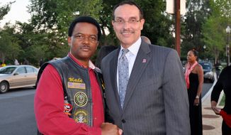 James Brinkley with D.C. Mayor Vincent Gray