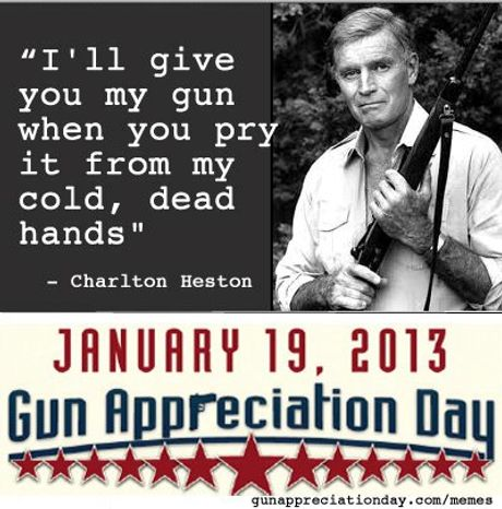 """Just in time for the presidential inauguration, a coalition of interest groups have declared Jan. 19 to be """"Gun Appreciation Day."""" (Political Media, Inc.)"""