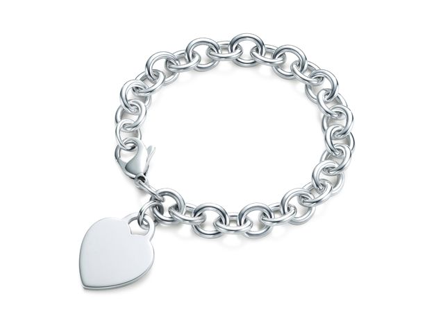 This image released by Tiffany's shows a heart tag bracelet in sterling silver. (Associated Press/Tiffany's)