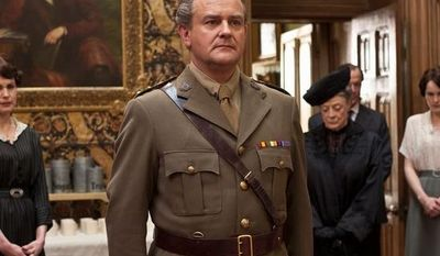 "Elizabeth McGovern (from left), Hugh Bonneville, Maggie Smith and Michelle Dockery star in ""Downton Abbey"" on PBS' ""Masterpiece."" (PBS)"