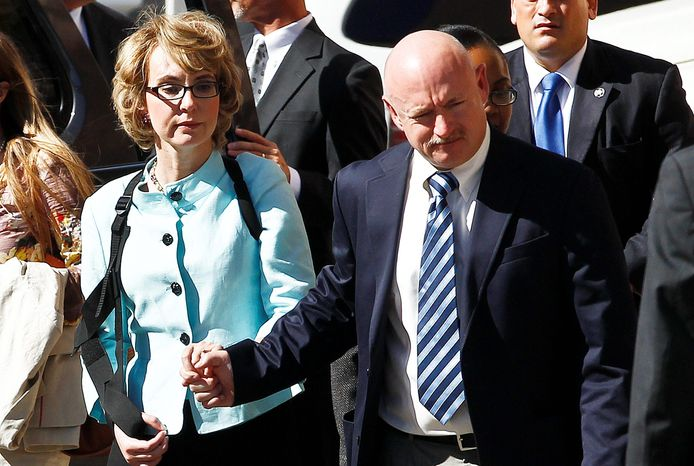 ** FILE ** Former Rep. Gabrielle Giffords and her husband, former astronaut Mark Kelly, announced Tuesday they are launching the Americans for Responsible Solutions PAC, an advocacy group to fight gun violence. (Associated Press)