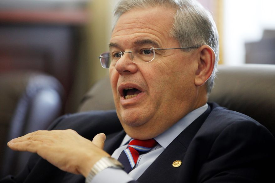 **FILE** Sen. Robert Menendez, New Jersey Democrat (Associated Press)