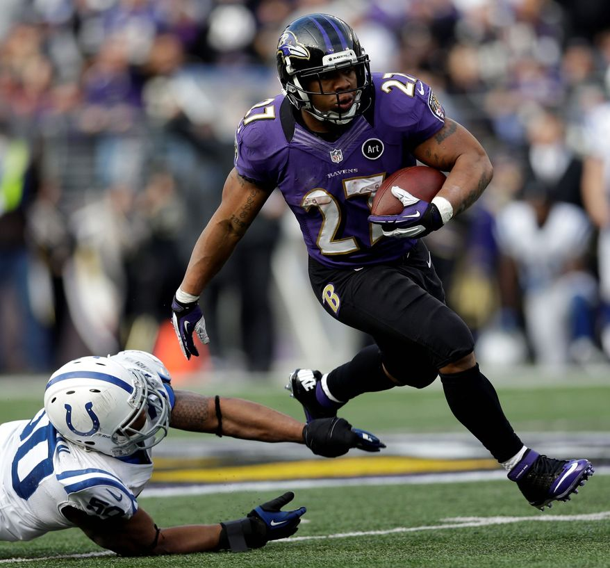 "Instead of overworking running back Ray Rice during the regular season, the Ravens limited his carries so he would be healthy when it mattered. Heading into Saturday's playoff game in Denver, Rice says, ""This is the best I've ever felt."" (Associated Press)"
