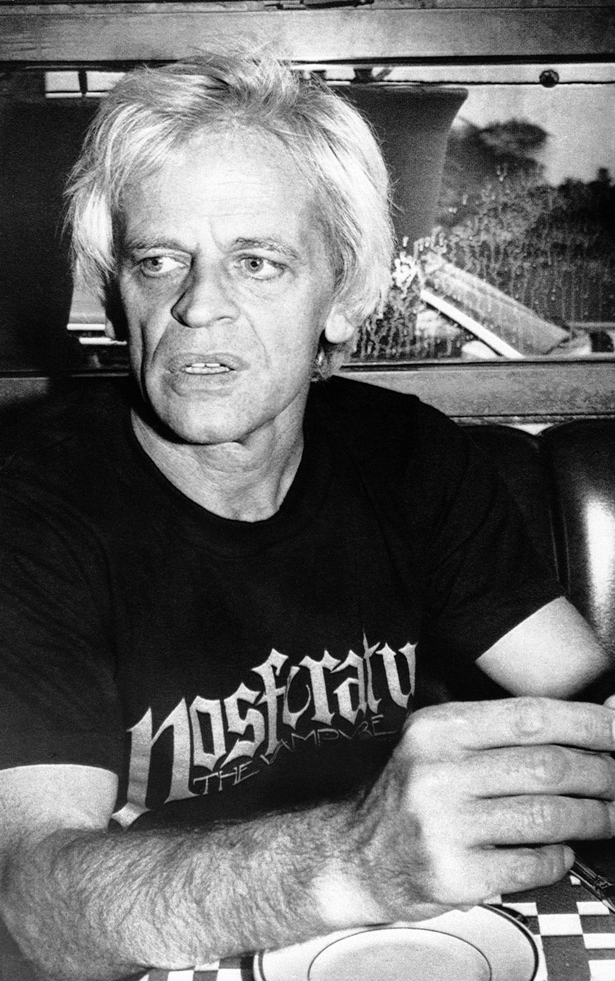 "German actor Klaus Kinski is pictured in 1979, when he was going to play Count Dracula in the film ""Nosferatu the Vampyre."" (AP Photo/Thanh My Huynh)"